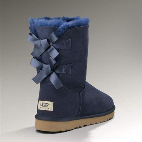 UGG Shoes   Girls Blue Ugg Bailey Bow